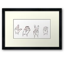 LOVE in ASL  Framed Print