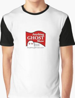Anything Ghost Black and Red Logo Graphic T-Shirt