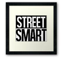 Street Smart - Black Framed Print