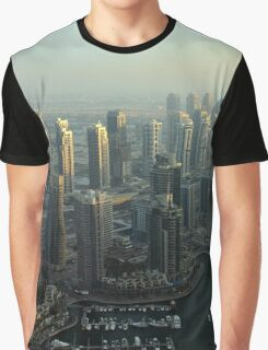 Photography of modern tall buildings from Dubai. Graphic T-Shirt