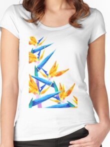 Bird of Paradise V2 #redbubble #lifetsyle Women's Fitted Scoop T-Shirt