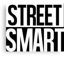 Street Smart - White Canvas Print