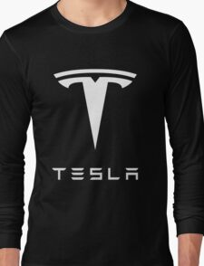 tesla retro vintage classic Long Sleeve T-Shirt