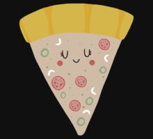 Cute funny smiling pizza slice One Piece - Short Sleeve