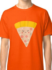 Cute funny smiling pizza slice Classic T-Shirt