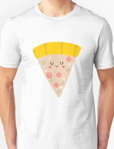 Cute funny smiling pizza slice Unisex T-Shirt