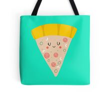 Cute funny smiling pizza slice Tote Bag