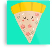 Cute funny smiling pizza slice Metal Print