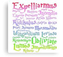 Magic spells Harry potter Canvas Print