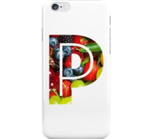The Letter P - Fruit iPhone Case/Skin