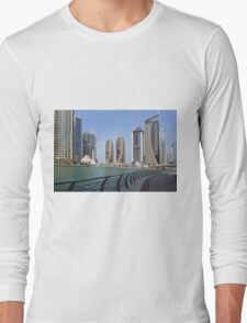 Photography of modern tall buildings from Dubai, United Arab Emirates. Long Sleeve T-Shirt