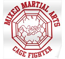 Mixed Martial Arts Cage Fighter Armbar Poster