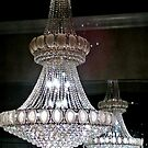 Magnificent Chandelier and its reflection in a Furniture Store by Jane Neill-Hancock