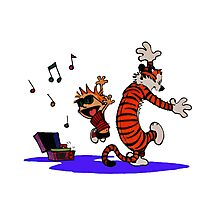 Calvin and Hobbes Dancing in the Floor Photographic Print