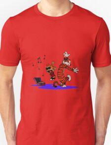 Calvin and Hobbes Dancing in the Floor Unisex T-Shirt