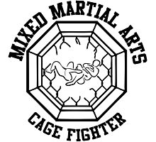 Mixed Martial Arts Cage Fighter Armbar Photographic Print