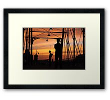 Hays Street Bridge Punks Framed Print