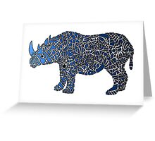 Abstract Rhino Coloured Greeting Card