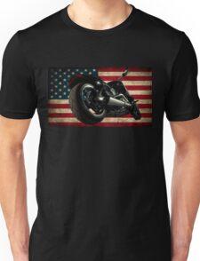 Modern Harley Davidson Fatboy USA Unisex T-Shirt