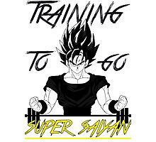 Training to go SUPER SAIYAN Photographic Print