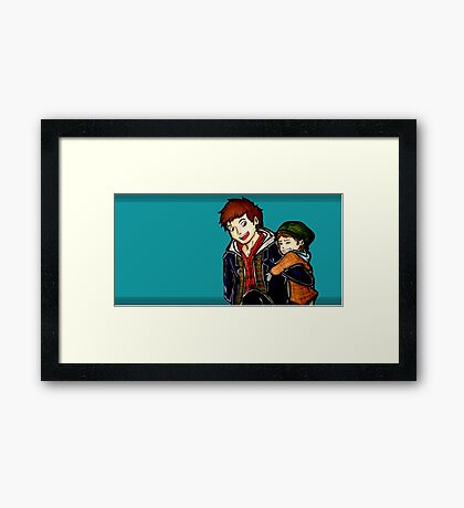 Adorable Bros  Framed Print