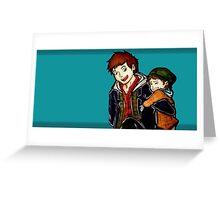Adorable Bros  Greeting Card