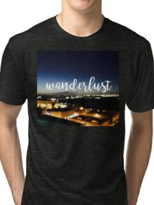 Wanderlust - Los Angeles CityScape Tri-blend T-Shirt