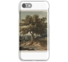 Thomas Girtin Landscape with Trees and a Fence, a Church in the Distance iPhone Case/Skin
