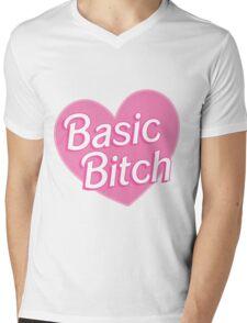 Basic Bitch Pink Mens V-Neck T-Shirt
