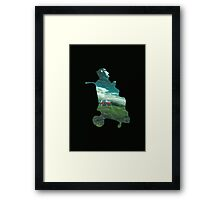 Tractor Silhouette Framed Print
