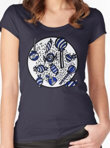 Wrapped Candies in Blue Women's Fitted Scoop T-Shirt