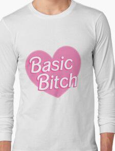 Basic Bitch Blue Long Sleeve T-Shirt
