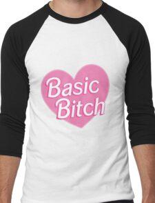 Basic Bitch Blue Men's Baseball ¾ T-Shirt