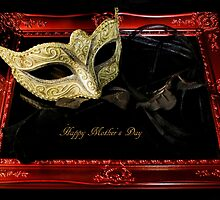 Framed Masquerade Mask Mother's Day Card Postcard by ©Josephine Caruana