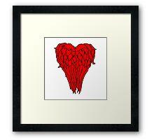 Daryl Dixon Wings - Heart Framed Print