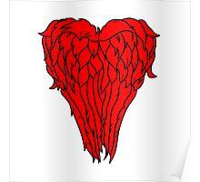 Daryl Dixon Wings - Heart Poster