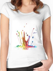 colors Women's Fitted Scoop T-Shirt