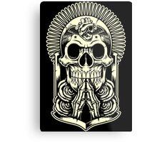 HOLLY SKULL Metal Print