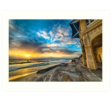 Sunset at Cottesloe Art Print