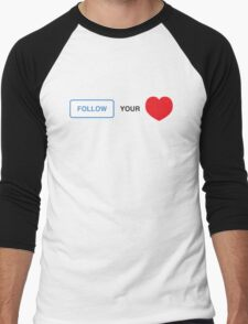 Follow your Heart ❤ (On Instagram) Men's Baseball ¾ T-Shirt