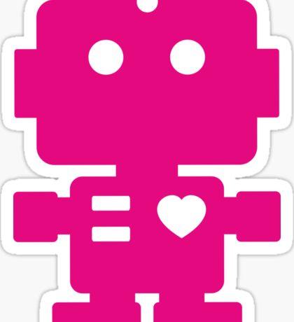 Robot - Magenta Sticker