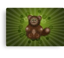 Brown Furry Cat Canvas Print