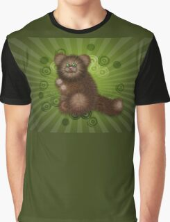Brown Furry Cat 2 Graphic T-Shirt