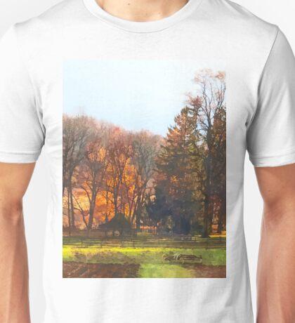 Autumn Farm With Harrow Unisex T-Shirt