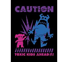 Caution...Kids!!! Photographic Print