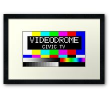 Videodrome - Civic TV Framed Print