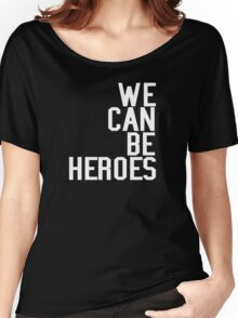 David Bowie We Can Be Heroes Tribute Charity Legend Women's Relaxed Fit T-Shirt