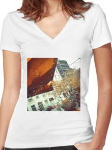 ship Women's Fitted V-Neck T-Shirt