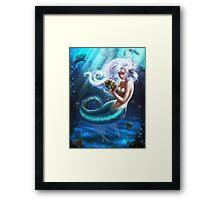 Sad Mermaid  Framed Print