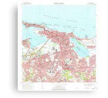 USGS TOPO Map Puerto Rico PR San Juan 362265 1969 20000 Canvas Print